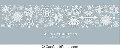 blue christmas card with white snowflakes vector illustration EP