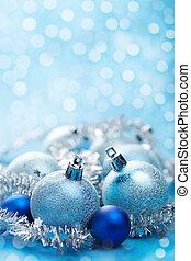 blue christmas decoration