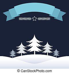 Blue Christmas design with ribbon