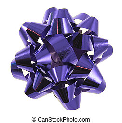 Blue Christmas Gift Bow
