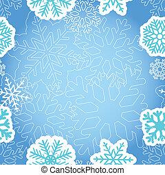 Blue Christmas greeting background