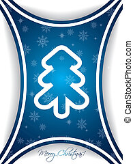 Blue christmas greeting card design