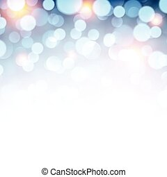 Blue christmas lights background.