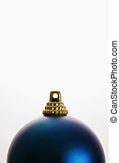 Blue Christmas ornament.