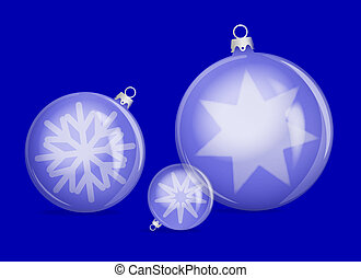 Blue christmas ornament - vector