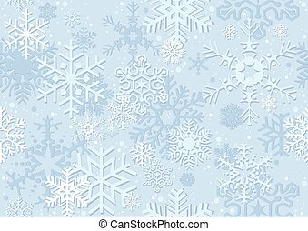 Blue Christmas Paper With Snowflakes - Repetitive Pattern,...