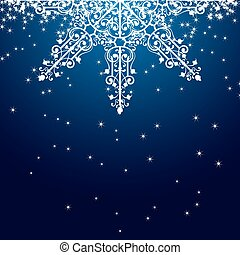 Blue Christmas Snowflake Ornament.