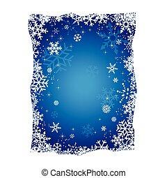 Blue Christmas Snowflakes Backgroun