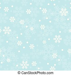 Blue Christmas snowflakes seamless pattern