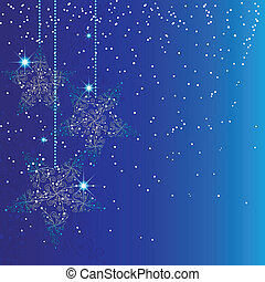 Blue Christmas star ornaments