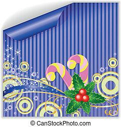 Blue Christmas sticker