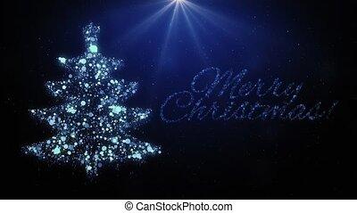 Blue Christmas tree animation