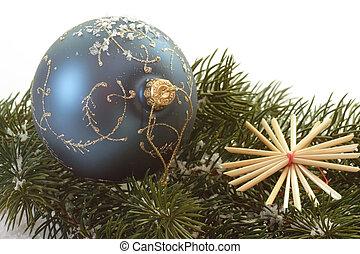 Blue christmas tree ball