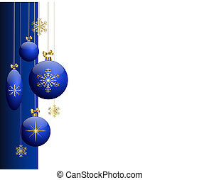 Blue christmas tree balls -
