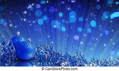 blue christmas tree decoration loop