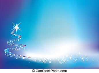 blue christmas twinkle background