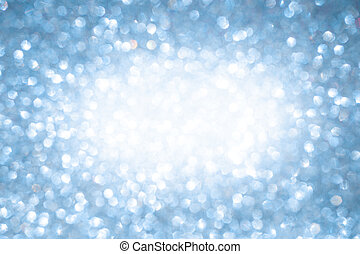 Blue christmas winter background with copy space - Abstract...