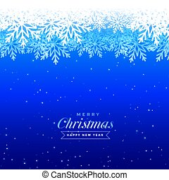 blue christmas winter snowflakes beautiful background design