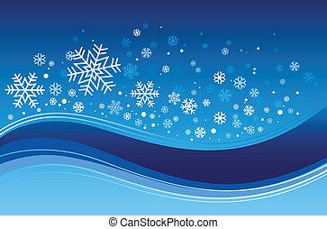 blue christmas with snowflake