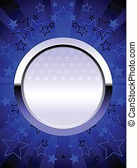 Blue chrome shield