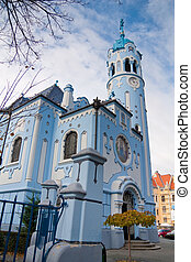 blue church in bratislava, capital of slovakia