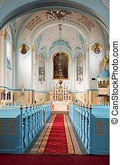 Blue church interior - Blue church (slovak: Modry kostol)...