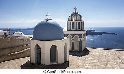Blue Church of Santorini