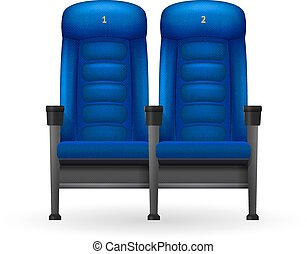 Blue Cinema Seats Illustration