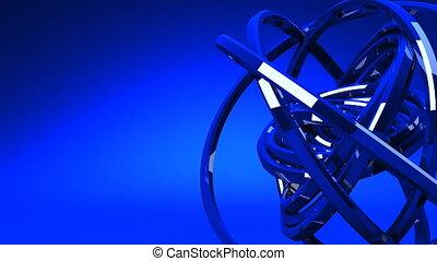 Blue Circle Abstract - Loop Able Blue Circle Abstract On...