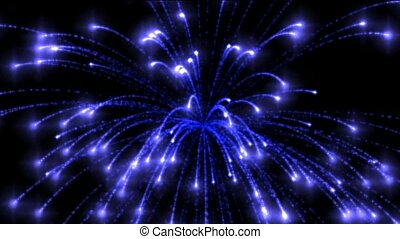blue circle fireworks,holiday