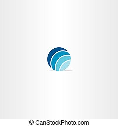 blue circle globe vector logo
