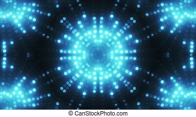 Blue circle led animated VJ background