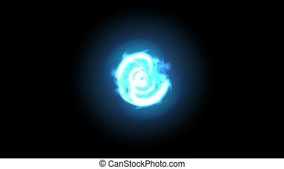 blue circle lightning -digital animation