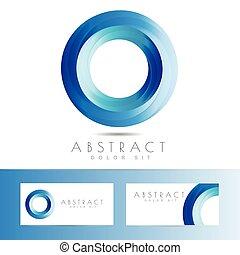 Blue circle logo design
