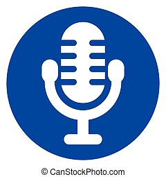 blue circle microphone icon