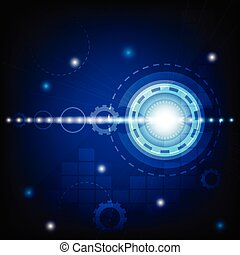 blue circle technology abstract background