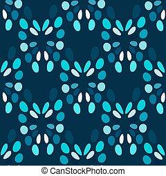 Blue circles abstract seamless pattern
