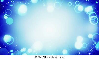 blue circles frame loopable background