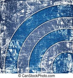 circles on grunge canvas