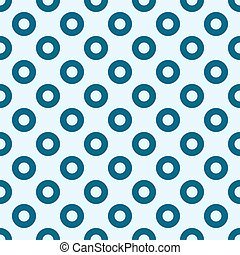 blue circles seamless pattern