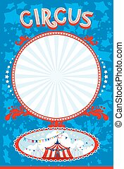 Blue circus poster