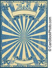 Blue circus retro