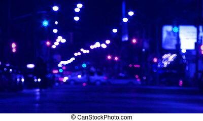 Blue city at night.
