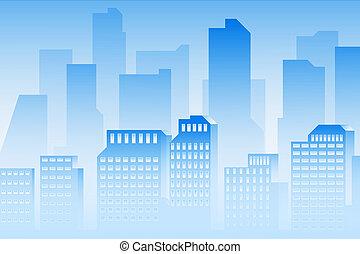 Blue city background