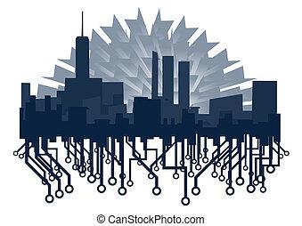 Blue city - Creative design of blue city