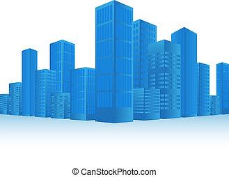 Cityscape - Blue Cityscape Background