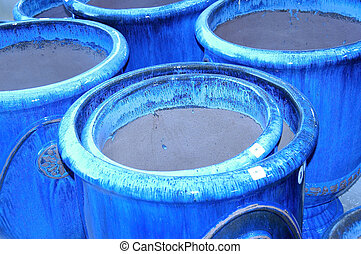 Blue Clay Pots - Blue Ceramic Pots