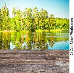 Blue clear lake
