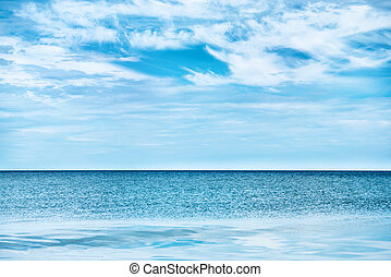 Blue clear sea and sky