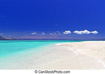 Blue clear sea